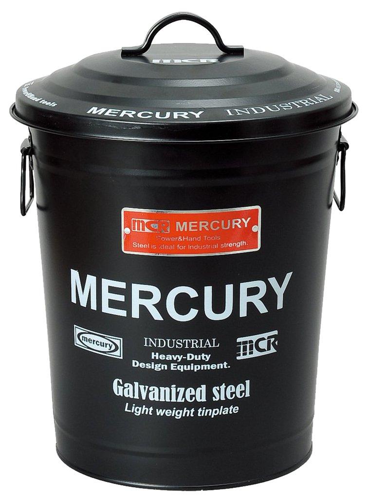 マーキュリー ゴミ箱 円筒型 ダスト ビン マット ブラック 18L アメリカ雑貨 MEBURDMB B01HYY90G4 マットブラック マットブラック