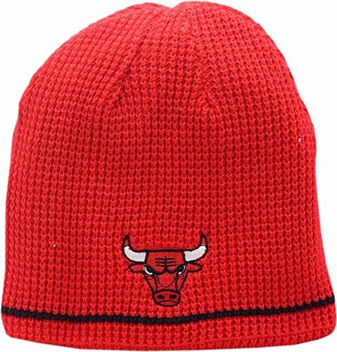 American Needle Chicago Bulls Skull Knit Hat Reversible Logo Block 2 - Block Beanie Reversible Knit