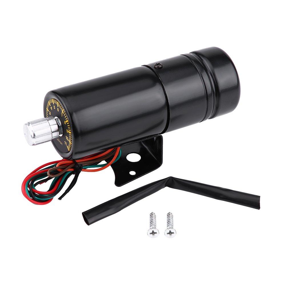 Qiilu Adjustable Shift Light 11000RPM Voiture Moto Ré glable Rouge LED Tachymè tre Tacho Gauge Shift Lumiè re