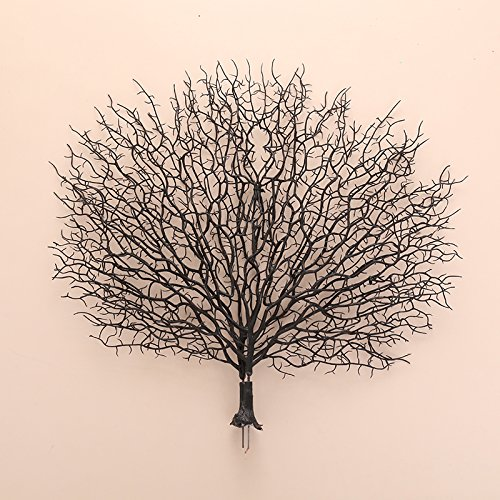 Kicode Artificial Coral Simulation Plastic Coral Branches Ornaments Home Decoration Crafts Peacock Fan Shape Landscape Fish Tank Ornament