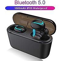 Bluetooth 5.0 Kablosuz Mikrofonlu Kulaklık Su Geçirmez Gürültü Önleme 1500mAH Şarj Powerbank