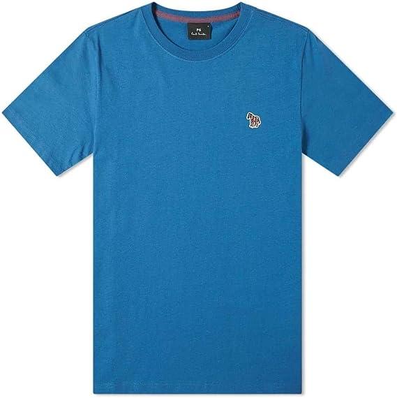 Paul Smith - Camiseta de Manga Corta, diseño de Cebra, Color Azul Azul Azul XXL: Amazon.es: Ropa y accesorios