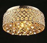 KRSD-40W, Modern crystal lamp, modern minimalist golden ceiling lamp, living room, bedroom, kitchen, hotel creative lamps,110v