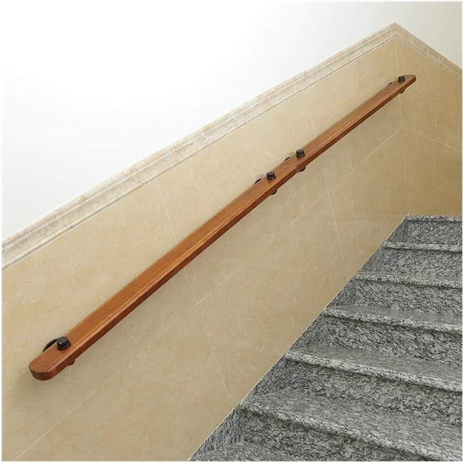 壁に向かって階段手すり屋内幼稚園木製手すり古い滑り止め手すり(サイズ:150 cm)