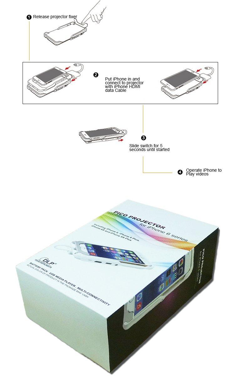 amazon com daeon portable mini video projector for iphone 8 7