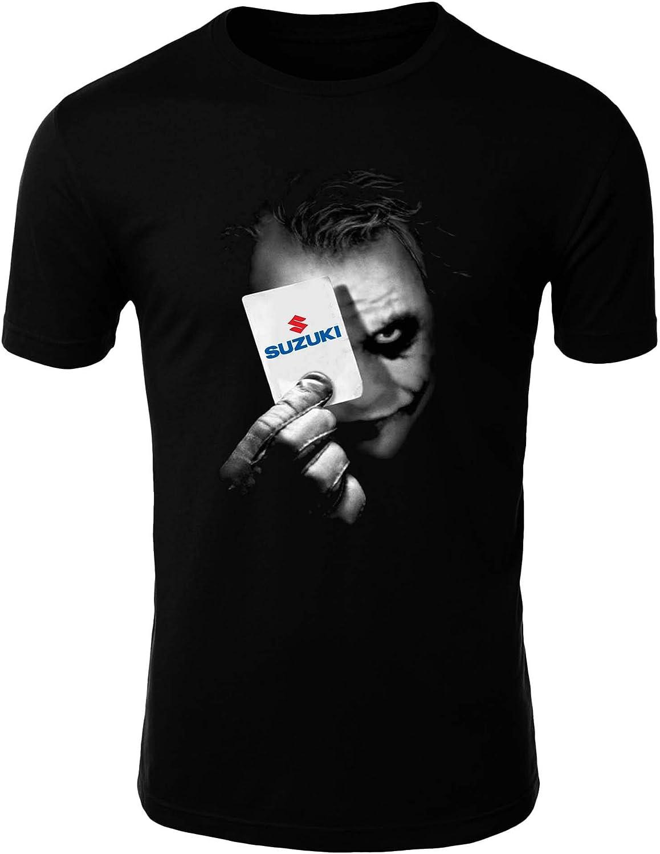 T-Shirt Suzuki Joker 1 Batman Arkham Clipart Uomo Men Car Auto Tee Top Nero Maniche Lunghe Maniche Corte Present