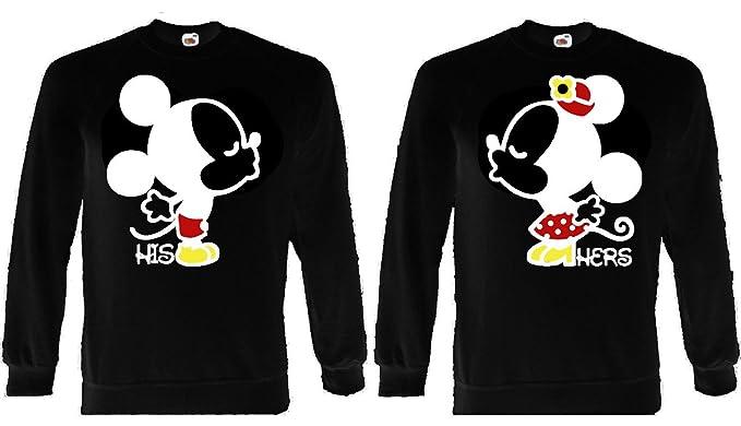 Fruit of the Loom Mickey Minnie Kissing Lovers su Hers Jersey Sudadera el Sudor Top Negro Negro XX-Large: Amazon.es: Ropa y accesorios