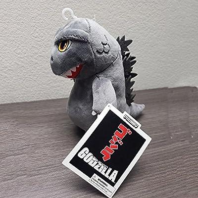 Godzilla Plush Super Cute 7 inches Tall Phunny Plush Dinosaur Dragon Monster Plush Toys Stuffed Animal Birthday Xmas Kid Gift Grey: Clothing