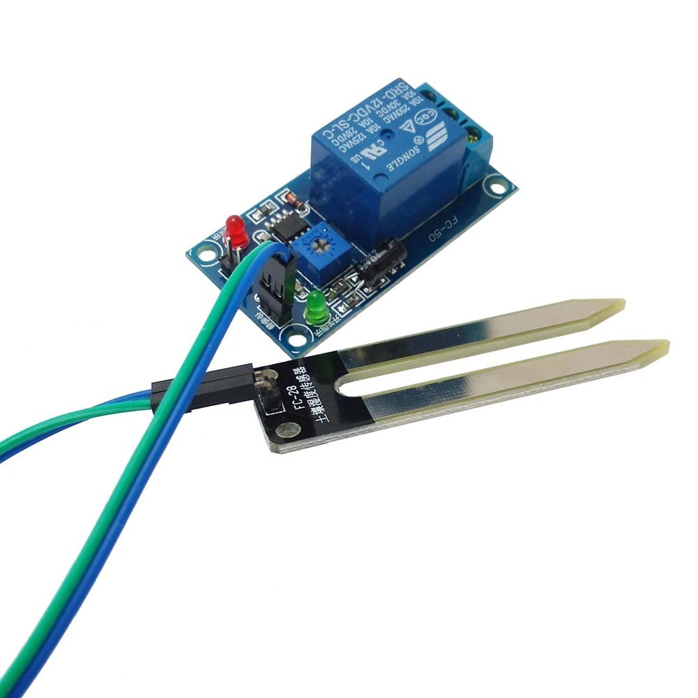 Ctyrzch 12v Soil Moisture Sensor And Automatic Watering Dc5v To Dc30v Converter By 74hc14 System Garden Outdoor