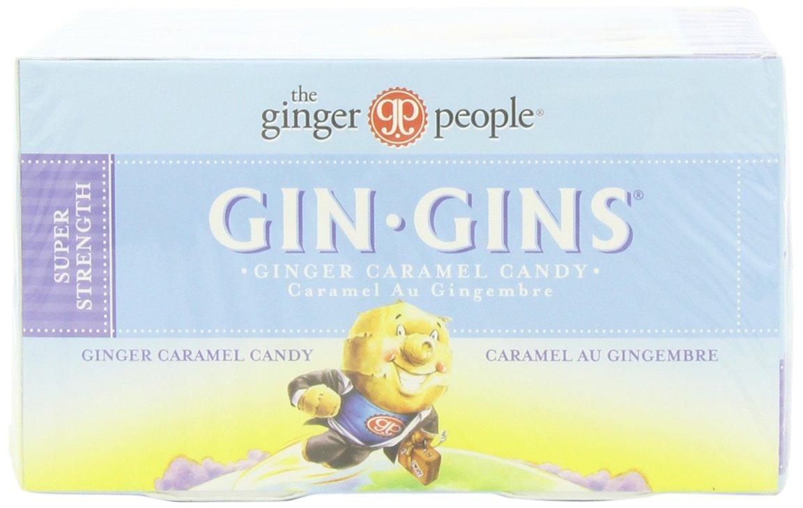 The Ginger People Gin Gins BOOST Ultra Strength Ginger Candy, 1.1-Ounce Boxes (Pack of 24) by The Ginger People