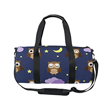 d9c9e068bbe Image Unavailable. Image not available for. Color  Evolutions Night Owls  Travel Duffel Bag Weekender Sports Gym Bags for Men Women
