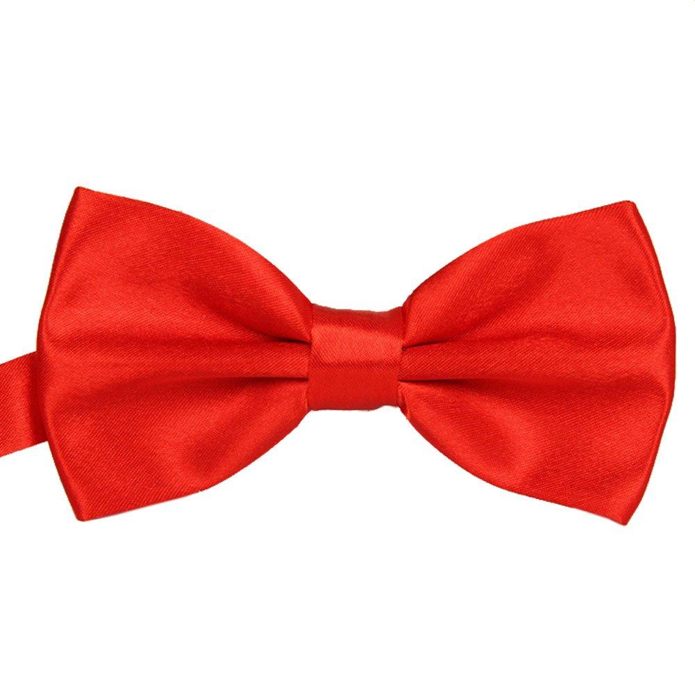 Gespout Pajarita Hombre Bodas Novio Pa/ño Traje Corbata Esmoquin Camisa Decoraci/ón Maestro Muchacho Bowknot Cravat Suministros Accesorios Fotos C/ómodo 1pcs Rojo