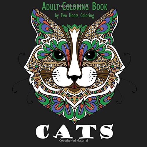 Amazon Adult Coloring Book Cats 9780692600818 Two Hoots Books