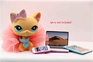 LPS Accessories Lot Laptop Tablet Phone Clothes Bow Skirt Glasses Collar Suit for LPS Cat Dachshund Great Dane Collie Rabbit