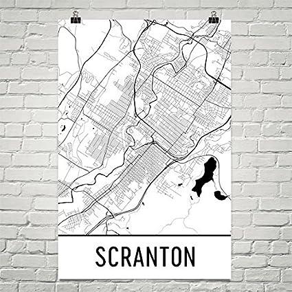 Amazon.com: Scranton Poster, Scranton Art Print, Scranton Wall Art ...