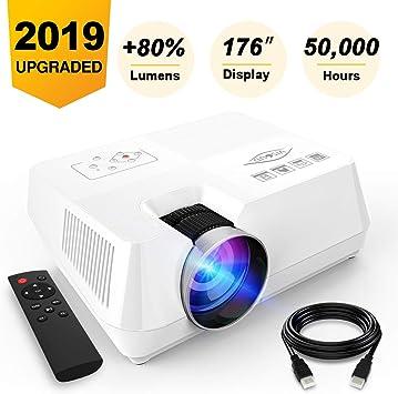 Amazon.com: visoud Mini proyector portátil, 2200 Lúmenes ...