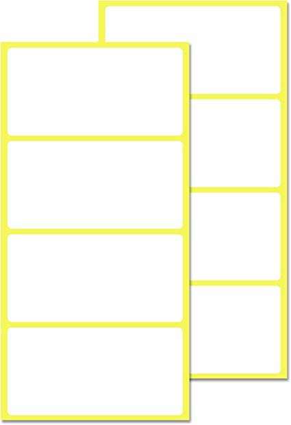Pack de 200, 100 x 50 mm - Etiquetas Adhesivas Blancas Pegatinas: Amazon.es: Oficina y papelería