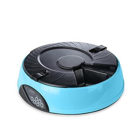 PETCUTE 6 Veces / día LCD Automático Alimentador los Mascotas, Gatos, Perros, Temporizador