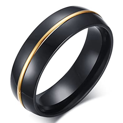 Sainthero Men S Wedding Bands Classic 6mm Tungsten Titanium Steel