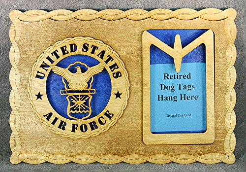 Air Force Dog Tag Display
