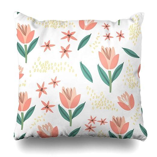 Ahawoso Funda de almohada decorativa cuadrada 20x20 American ...