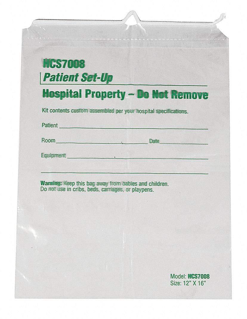 Patient Set-Up Bag, Plastic, Clear, PK500 by HCS (Image #1)
