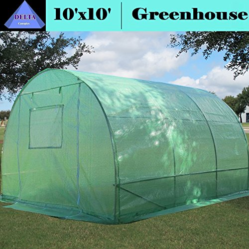 High Peak Clear Canopy - Greenhouse 10'x10' (B2) 58 lbs - Green House Walk in Hot House By DELTA Canopies