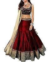 Shoryam Fashion Women's Crepe Unstitched Lehenga(sf_04_Multicolor_Freesize)