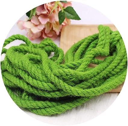 Cuerda de cáñamo de 10 mm, Blanco/Verde —10M / 20M / 60M ...