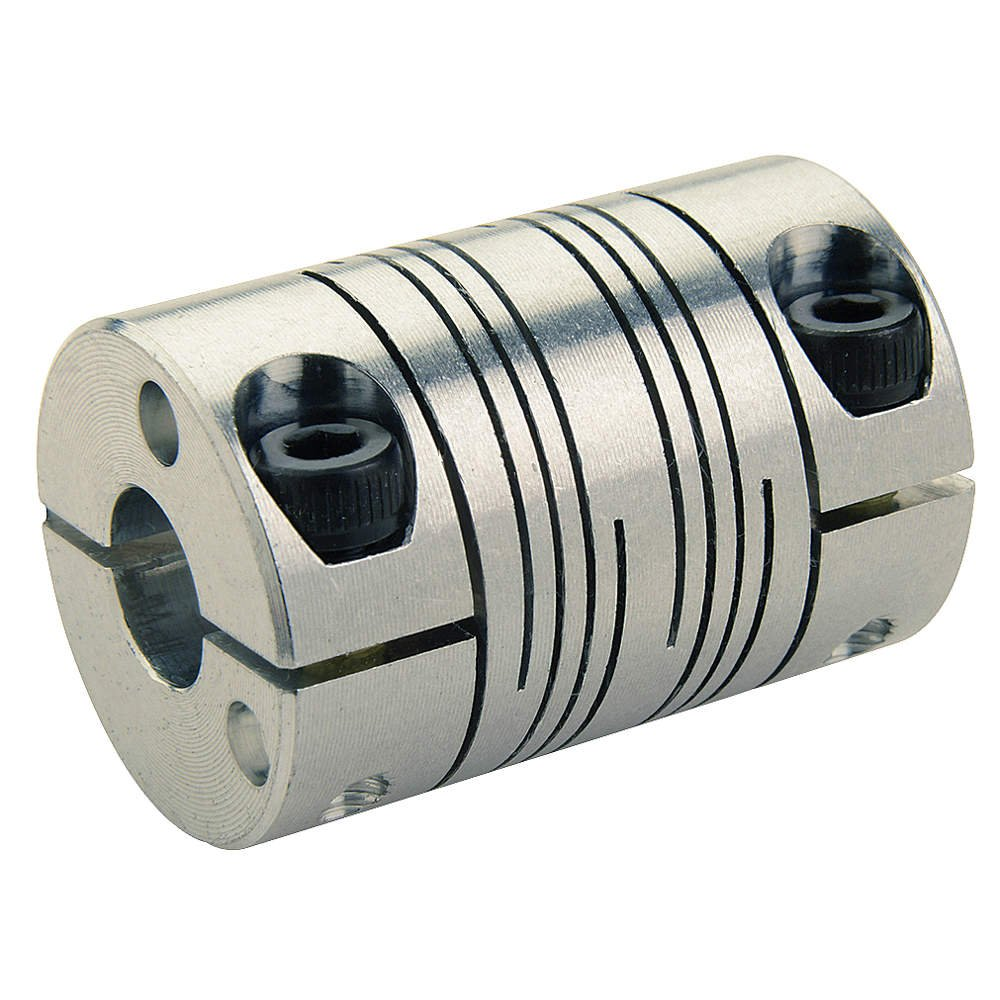 6-Beam Clamp Style 1.500//38.1 mm OD 2.250//57.2 mm Length 0.750 x 16 mm Bores Ruland FCR24-3//4-16MM-A 7075 Aluminum Beam Coupling