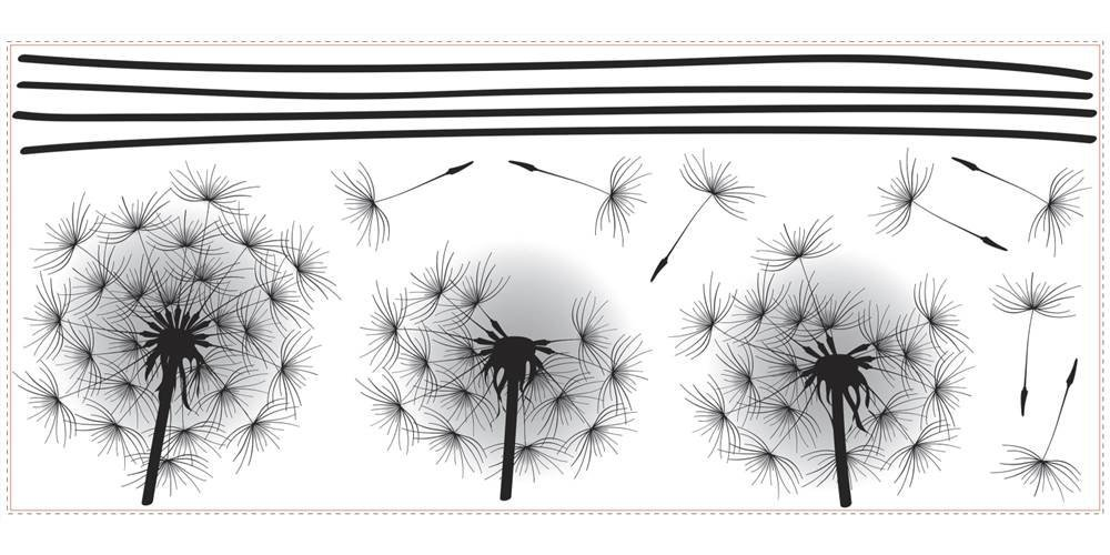RoomMates Whimsical Dandelion Peel And Stick Giant Wall Decals