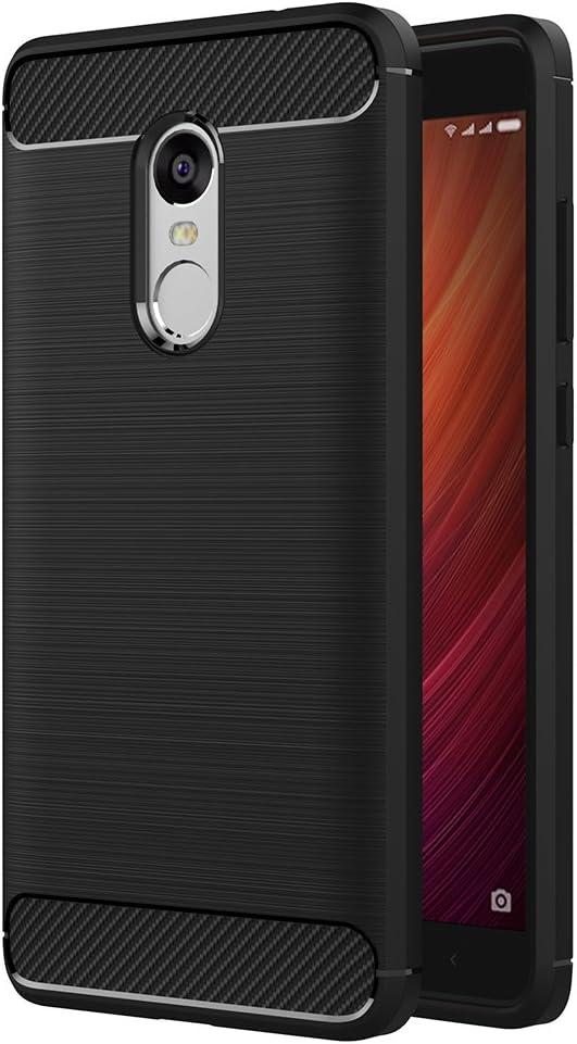 Cover Xiaomi Redmi Note 4, AICEK Nero Custodia Xiaomi Note 4 Silicone Molle Black Cover per Xiaomi Note 4 Soft TPU Case