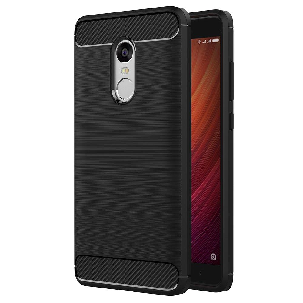 كفر حافظة Xiaomi Redmi Note 4، AICEK Black كفر Xiaomi Note 4 غطاء سيليكون ناعم أسود لحالة Xiaomi Note 4 TPU لينة