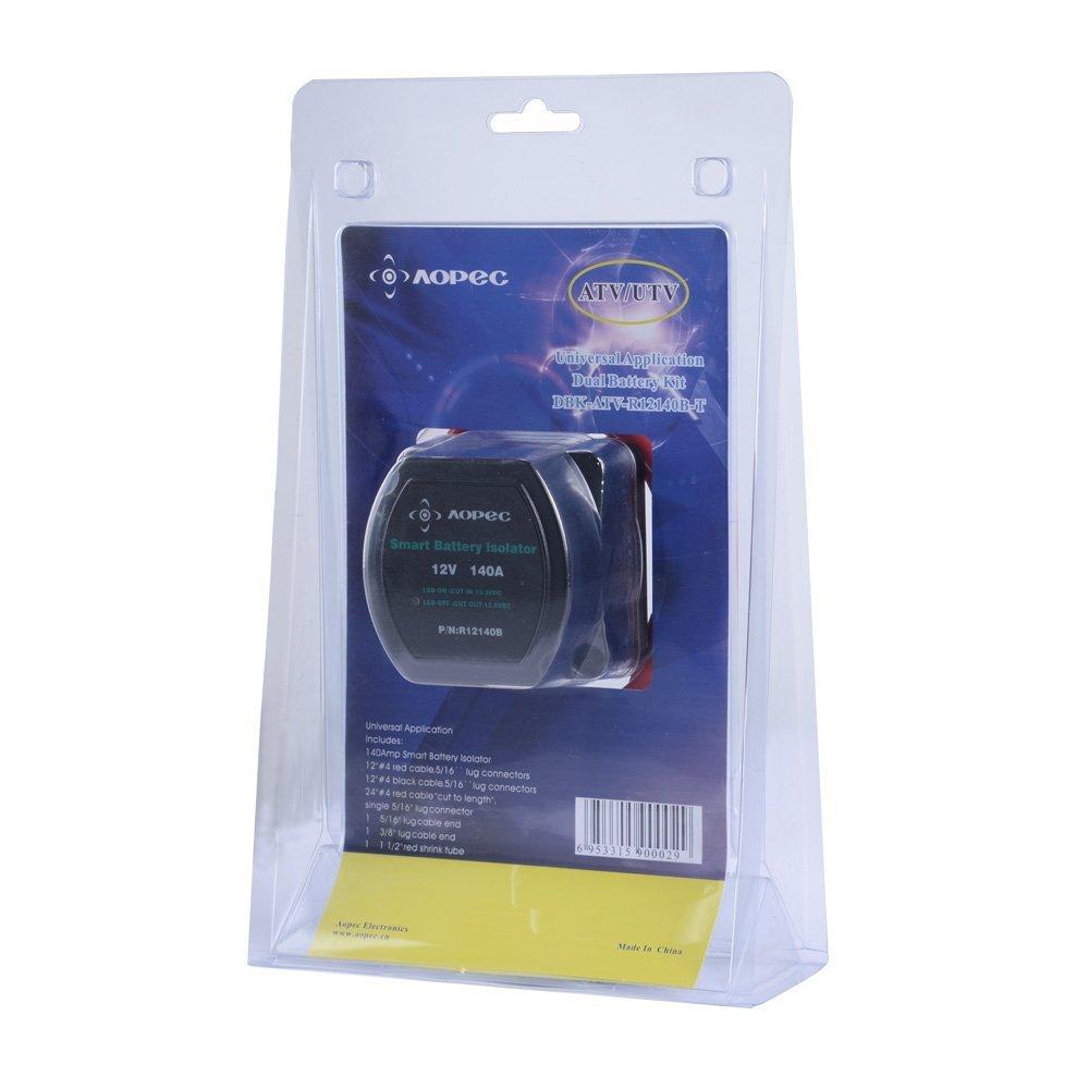 Smart Dual Voltage Sensitive Relay Battery Isolator Kits 12V 140AMP