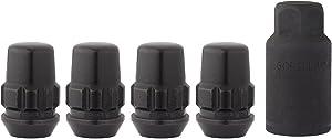 DPAccessories LCB3B2HCGBK06LK4 1/2-20 Black Closed Acorn Locking Lug Nuts Wheel Locks - 3/4 Hex - 4 Pack Wheel Lock Set