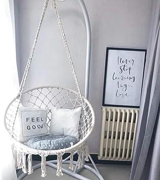 Macrame Swing Hammock Chair Nordic Style Cotton Hanging Rope