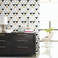 RoomMates Geometric Triangle Peel and Stick Wallpaper