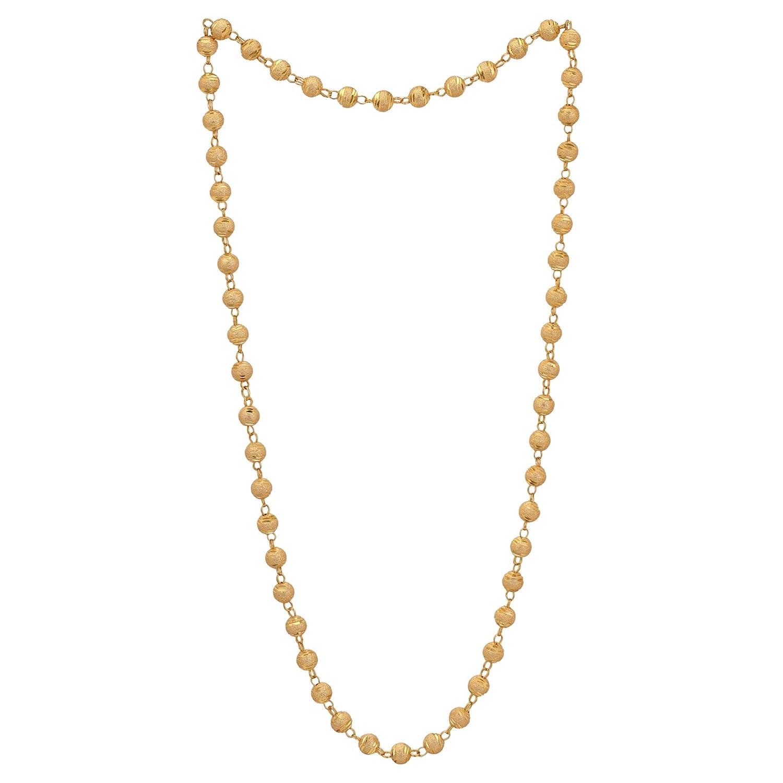 38e8a578126 Amazon.com: ZIKU JEWELRY White Gold Beads/MATAR MALA Gold Plated ...