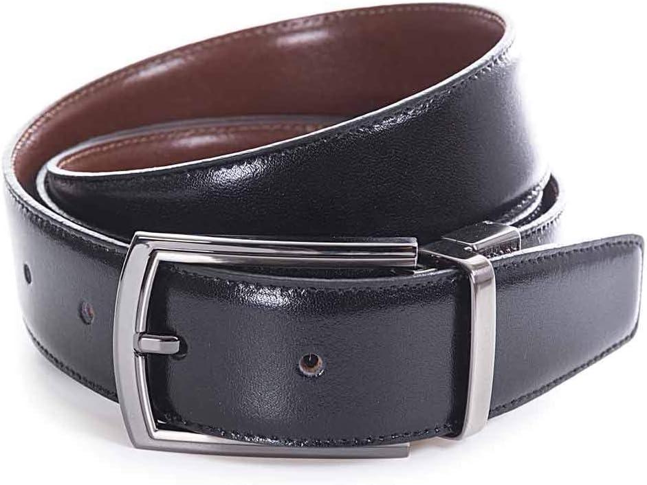 Miguel Bellido Cinturón clásico Reversible Piel Negro/Marrón 115cm 0.05Kg