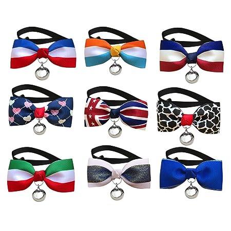 BESTOYARD Perros Collar con Arco Campanas Collar para Perro ...