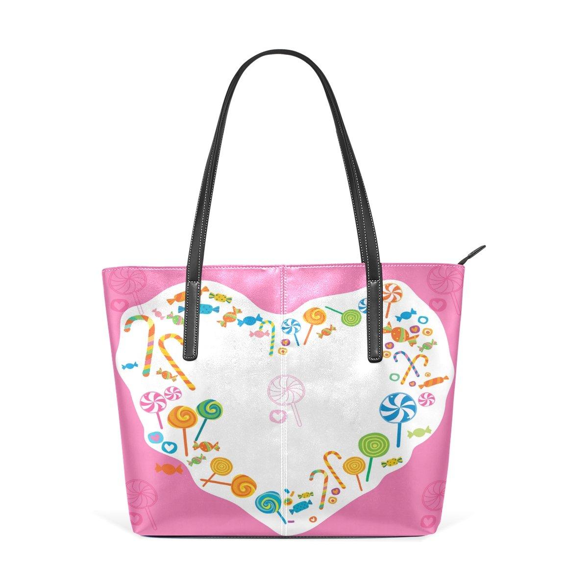 Women Leather Handbags Love Candies Top Handle Shoulder Bags