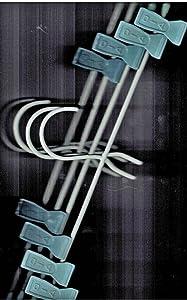 PLASTIC COATED SKIRT/SHORTS HANGERS (SLATE BLUE CLIPS- 4 HANGERS)