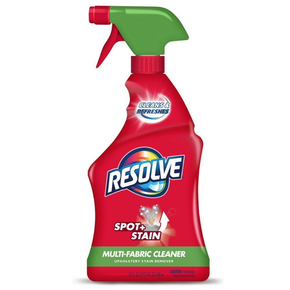 Resolve Upholstery Cleaner & Stain Remover, 22 oz Can, Multi-Fabric Cleaner (Pack of 4)