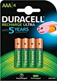 Duracell Recharge Ultra - pack de 4 Piles Rechargeables type AAA - 850 Mah