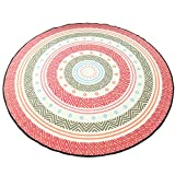 Fresh and round mattress / pure soft / Nordic circular carpet / bedroom computer chair cushion / basket hanging chair rocking chair / round mat / modern simple yoga mats ( Size : Diameter 150cm )