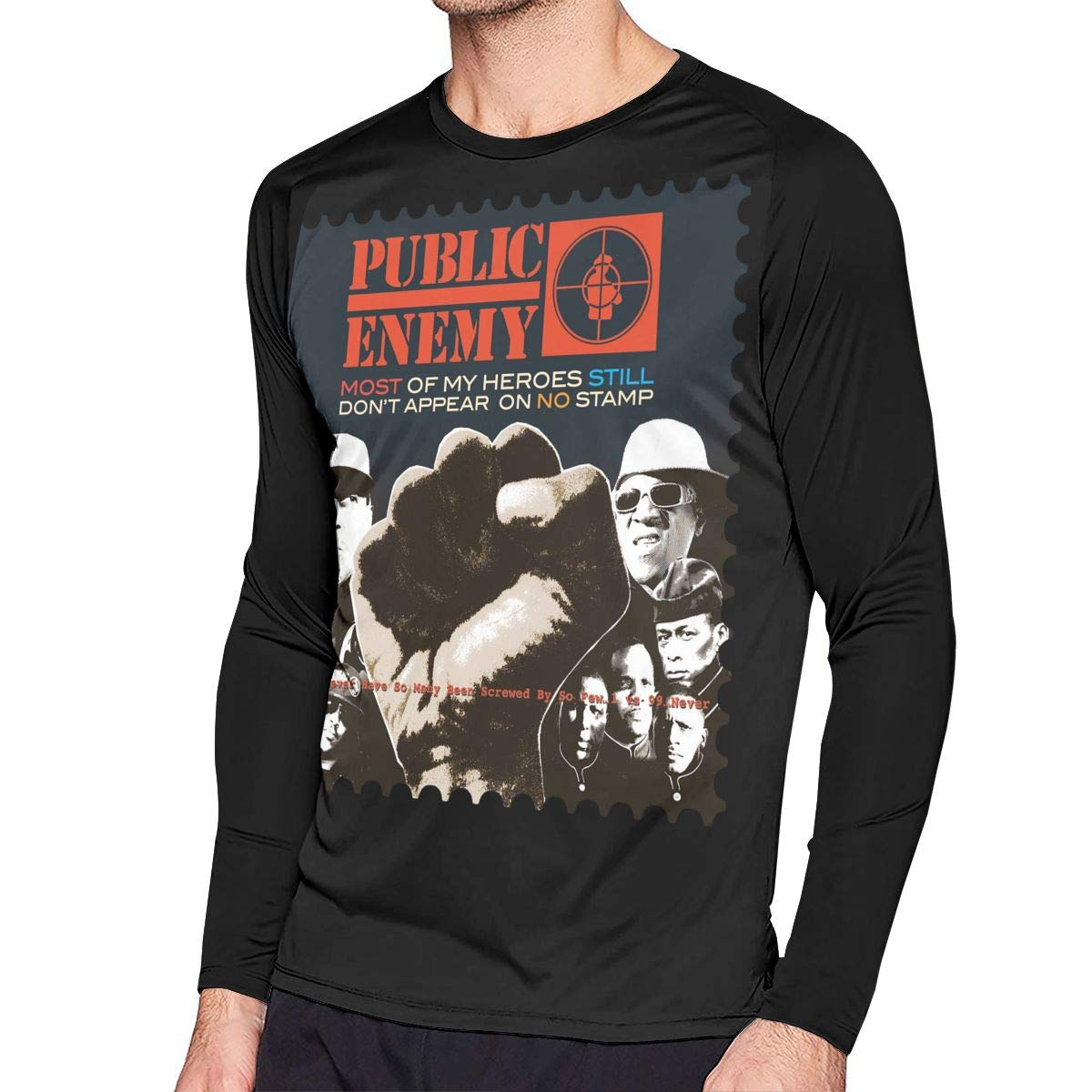 S Fashion Public Enemy Most Of My Heroes Still Dont Appear On No Stamp Raglan Baseball Te