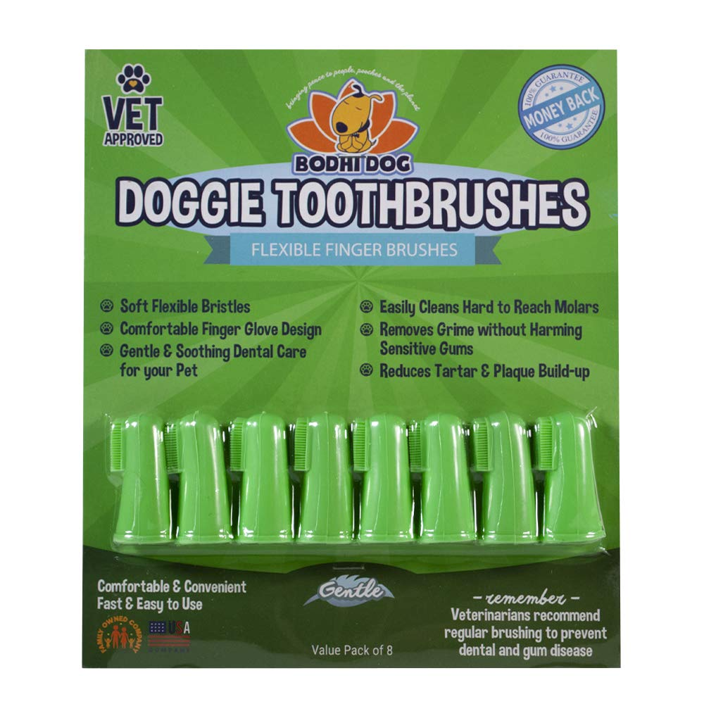 New Gentle Disposable Dog Toothbrushes | Soft High Grade Finger Toothbrush with Silicone Bristles for Pet Dental & Oral Care Teeth & Gum