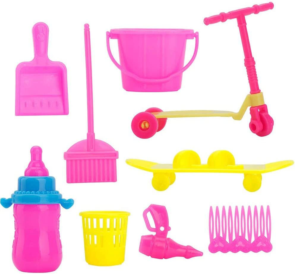 WENTS Accessories for Dolls 98 Pcs Different Accessories for Barbie Doll for Girls Christmas Birthday Party Gifts