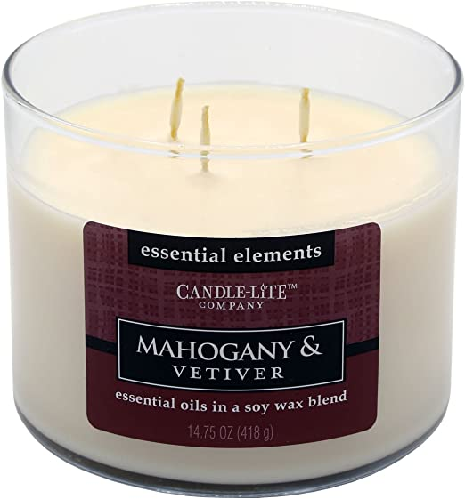 Candle-lite Essential Elements 14-3//4-Ounce 3 Wick Candle with Soy Wax