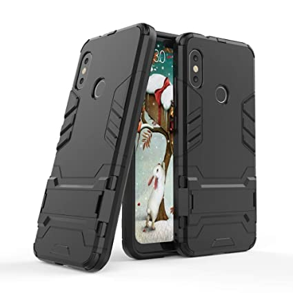best loved 631ed 5420f TARKAN Redmi 6 Pro Heavy Duty Shockproof Armor Kickstand Back Case Cover  for Redmi 6Pro (September 2018) - Black